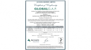 Trafalgar Fisheries achieves Global G.A.P. Certification