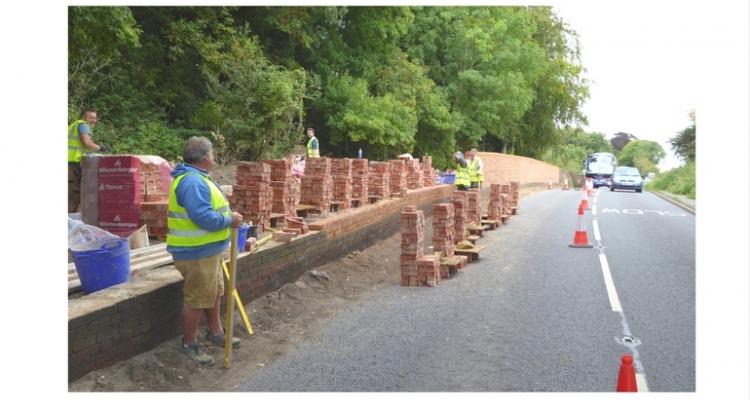 Britford Park Wall