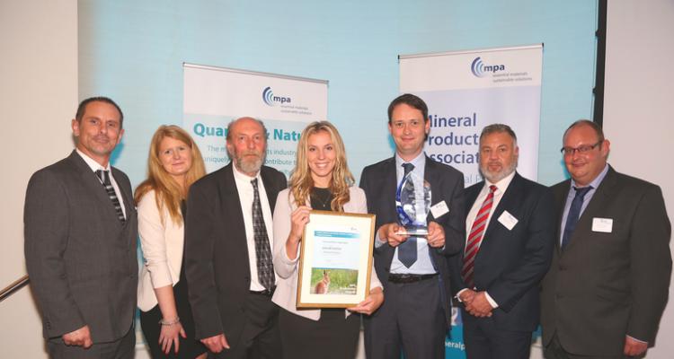 Brickworth Quarry wins prestigious Award