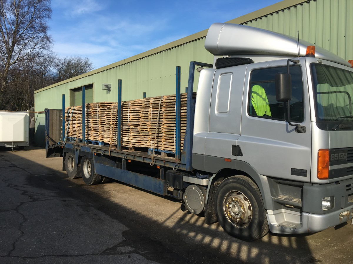 Lorry load of sports ash from Longford